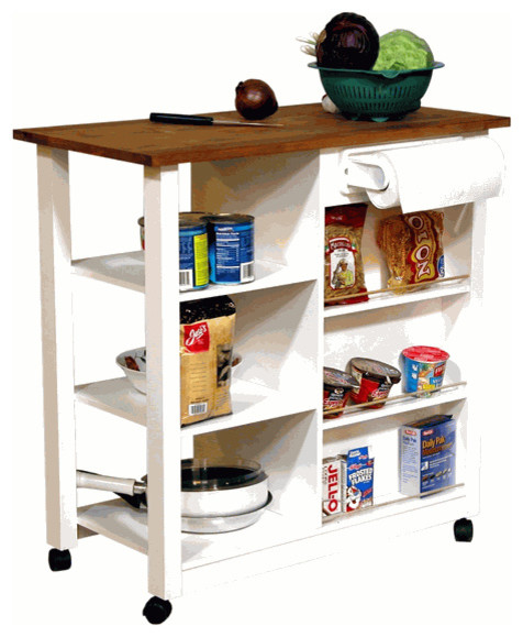 Mobile Butcher Block Island Transitional Kitchen Islands And Kitchen Carts By Organize
