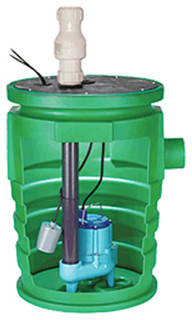 Little Giant 9S-Smpx-Lg Simplex Sump Pump Package - Transitional - Outdoor Fountain And Pond ...