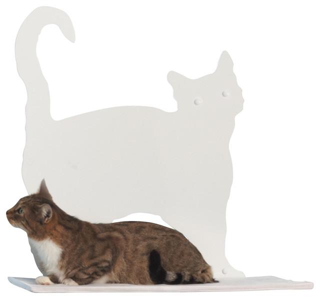 Cat silhouette cat shelf prance contemporary cat for Modern cat accessories