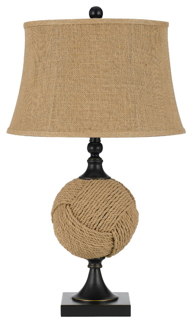 150w 3 way rope table lamp burlap transitional table for 150 w table lamp