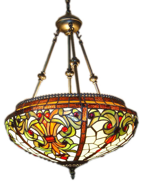 Tiffany Style Baroque Hanging Pendant Lamp