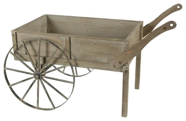 Garden Flower Cart Rustic Wheelbarrows And Garden