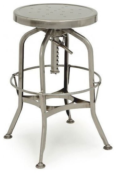 Toledo Gunmetal Adjustable Industrial Bar Stool  : industrial bar stools and counter stools from houzz.com size 380 x 562 jpeg 33kB