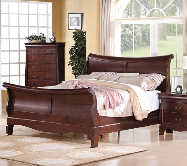 Acme Furniture Verona Dark Cherry California King Bed 20204ck Traditional Bedroom