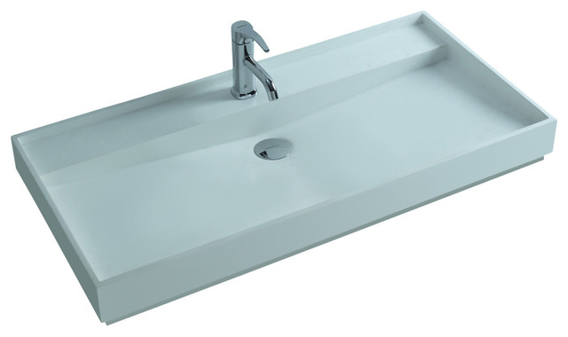 Solid Stone Sink : Solid Surface Stone Resin Sink, Matte - Contemporary - Bathroom Sinks ...