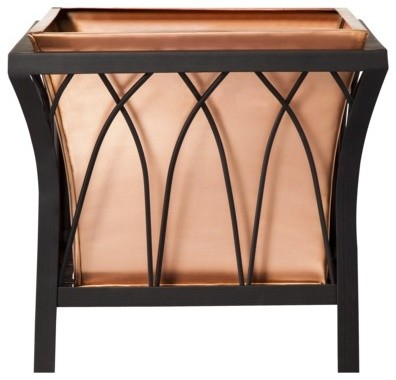 smith hawken premium quality eden park copper planter transitional outdoor pots and. Black Bedroom Furniture Sets. Home Design Ideas