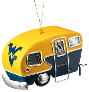 West Virginia Mountaineer Metal Camper Ornament - Contemporary ...