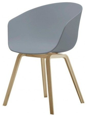 Hay aac22 bucket seat gray contemporary dining chairs for Bucket dining room chairs