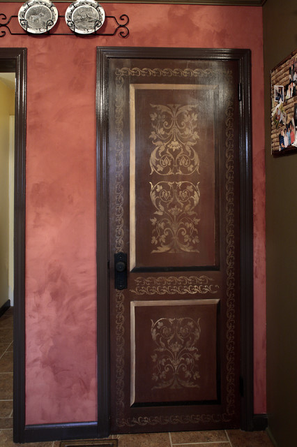Faux Painted Doors Distressed And Aged Wood Traditional Interior Doors Portland By