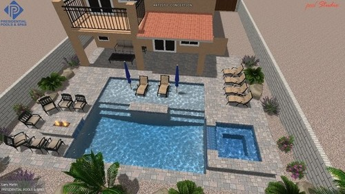 Anyone has a second thought on their pool 39 s size for Pool design with tanning ledge