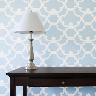 Hanover Damask Wall Painting Stencil - Traditional - Wall Stencils - by Stencil Ease