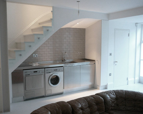 Laundry Under Stairs Home Design Ideas, Pictures, Remodel and Decor