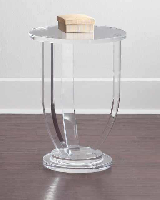 Bayberry Side Table - ACRYLIC / CLEAR - Contemporary - Furniture