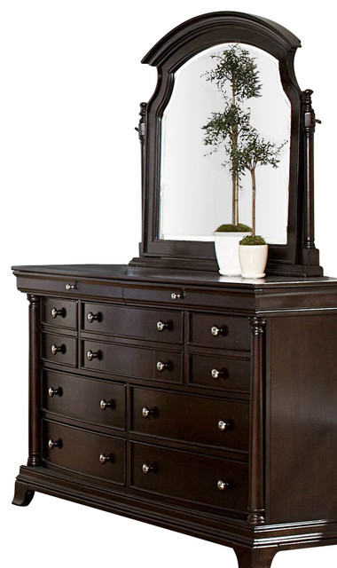 Homelegance Inglewood Dresser With Swivel Mirror In Cherry Traditional Dressers By Beyond