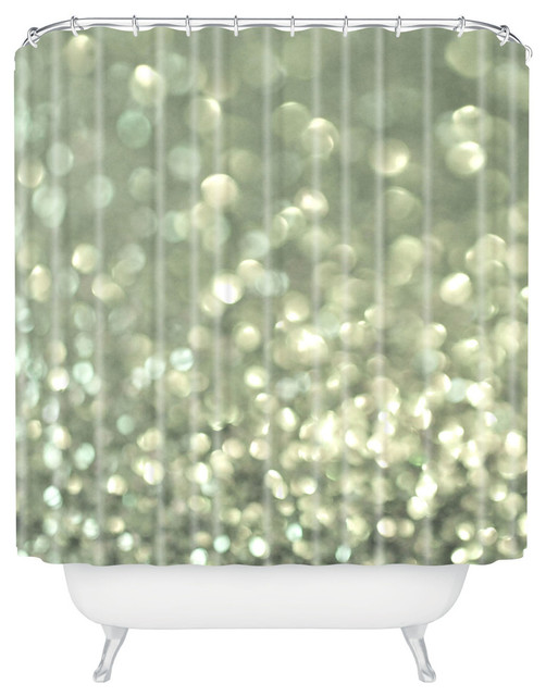 Lisa argyropoulos mingle 2 silver screen shower curtain for Mona lisa shower curtain