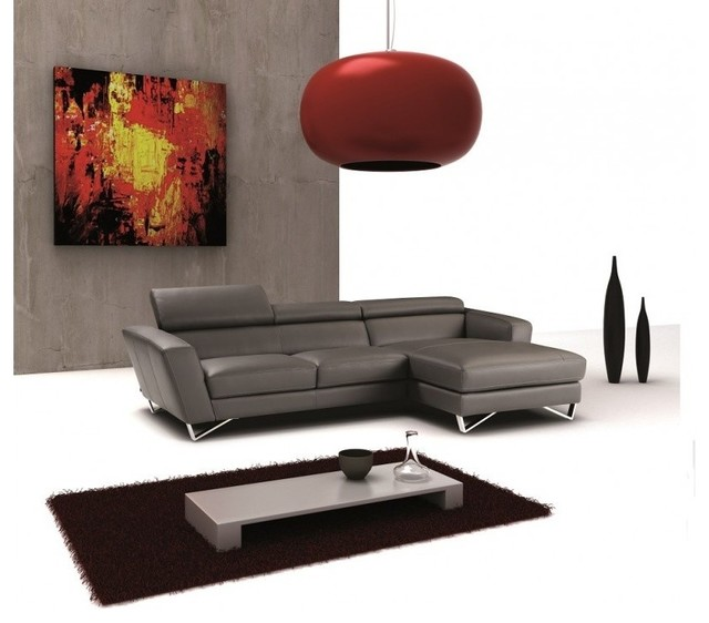 Sparta Mini Italian Leather Sectional By Nicoletti J M