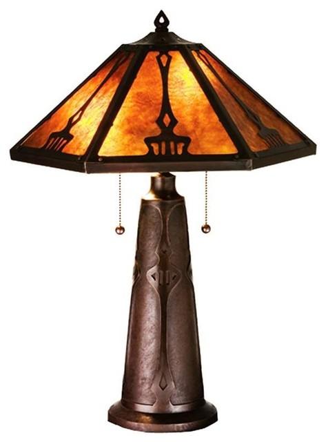 meyda lighting table lamp 78067 arts crafts table. Black Bedroom Furniture Sets. Home Design Ideas