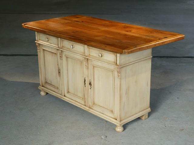 reclaimed wood kitchen island traditional kitchen
