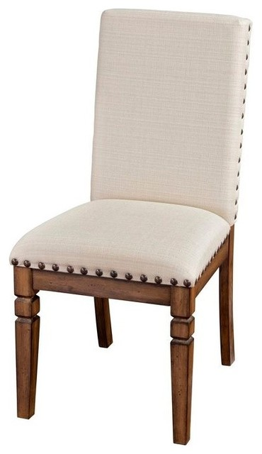Traditional Upholstered Dining Chairs ~ Cornerstone upholstered side chair traditional dining