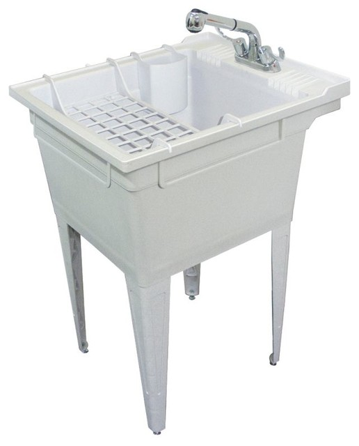 Utility Sink Accessories : ... Laundry Sink, With Faucet and Accessories traditional-utility-room