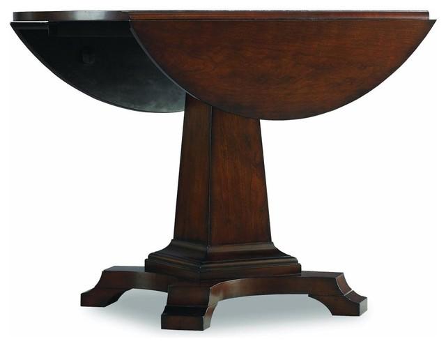 Round Pedestal Table With Leaf Of Hooker Furniture Abbott Place Round Drop Leaf Pedestal