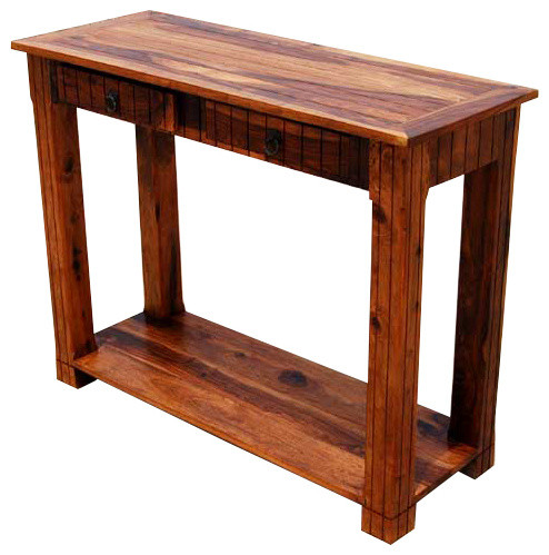 Solid wood 2 storage drawer sofa entryway console table Wooden hallway furniture