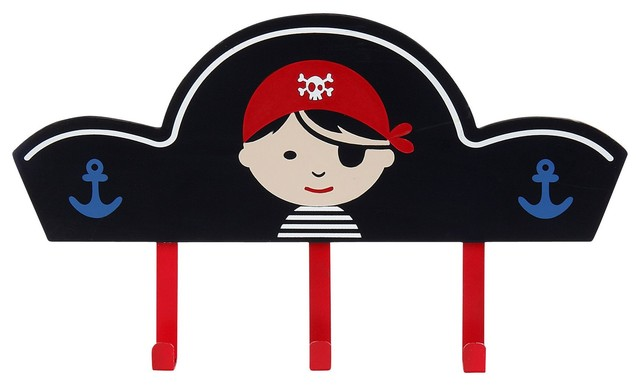 Pirate pat re murale en forme de chapeau de pirate pour enfant contemporain accessoire de - Accessoire de chambre ...