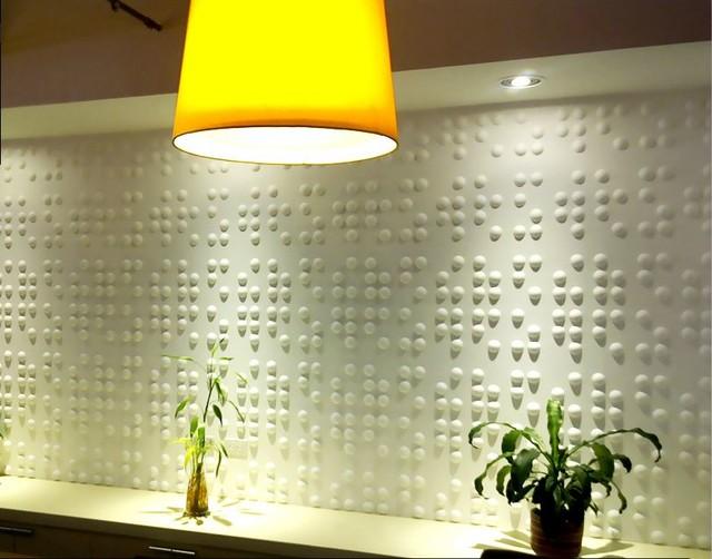 Inhabit braille wall flats 3d embossed wallcoverings contemporain papier peint - Papier peint ontwerp contemporain ...