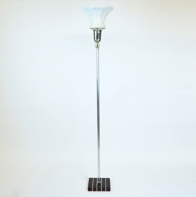 Deco torchiere floor lamp by depression modern modern for Contemporary torchiere floor lamps