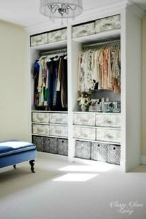 DIY IKEA Hack PAX Wardrobe Dressing Room - Transitional ...