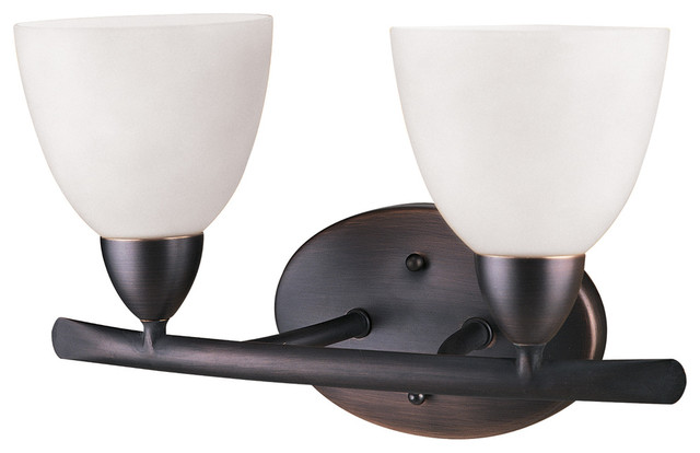 Vanity Lights Up Or Down : Dvi Lighting DVP2022ORB-OP Two Light Up And Down Vanity modern-bathroom-vanity-lighting