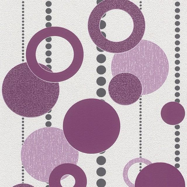 Purple Retro Wallpaper Sample Wallpaper Contemporary