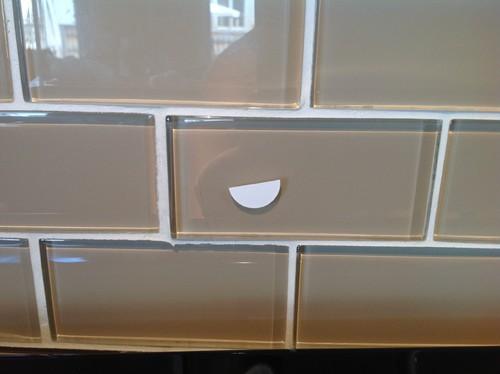 Scratched Glass Backsplash What Should We Do