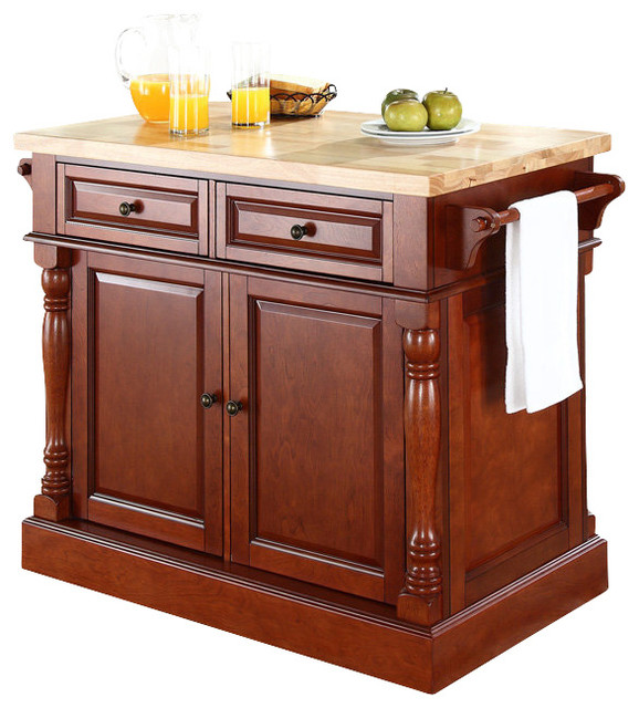 24 Kitchen Island: Crosley Furniture 48x23 Butcher Block Top Kitchen Island