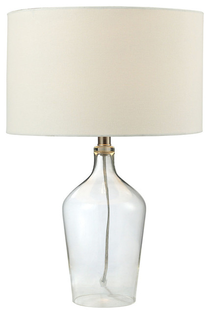 23 Hideaway Clear Glass Table Lamp Transitional Table Lamps By Elk Group International