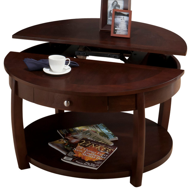 jofran 436 2 riverside round lift top cocktail table with