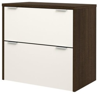 Bestar 50630-60 Contempo Lateral File - Tuxedo / Sandstone - Modern - Filing Cabinets - by Hayneedle