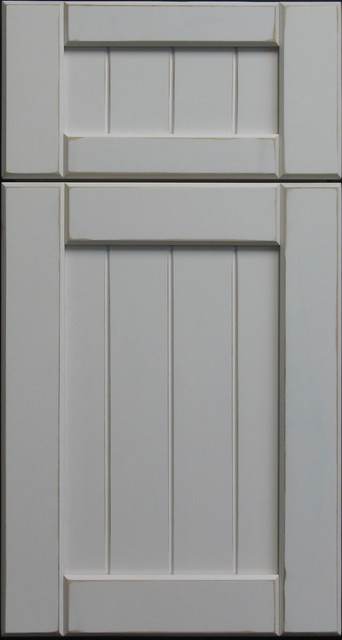 V-Joint Shaker-style Cabinet Door with V-Groove Panels - Rustic - other metro - by Style Line ...
