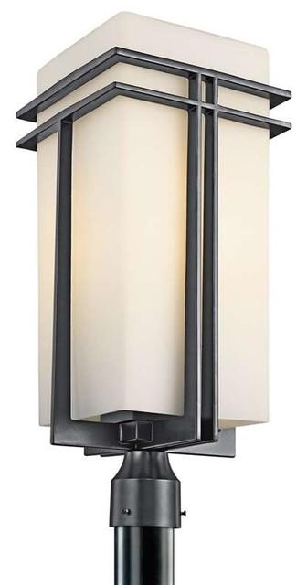 Kichler Lighting 49204BK Tremillo Contemporary Outdoor Post Lantern Contemp