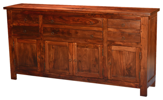 Mission traditional solid wood buffet sideboard