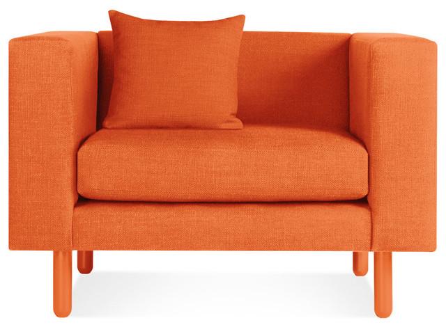 Blu dot mono lounge chair orange modern outdoor for Chaise longue orange