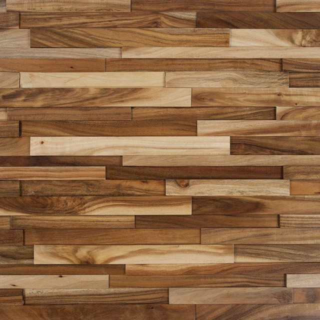 Wood Wall Tiles: Nuvelle Flooring Deco Strips Wheat 3/8 in. x 7-3/4 in. Wide x - Contemporary ...