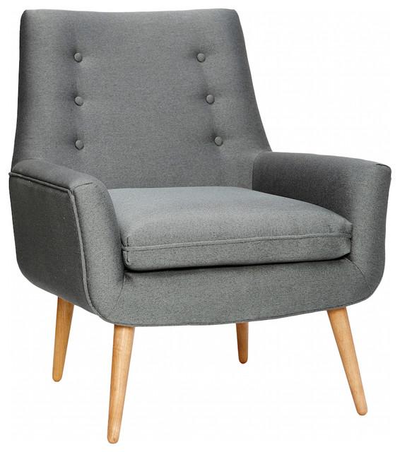 Retrosessel grau contemporain fauteuil other metro par for Fauteuil salon contemporain