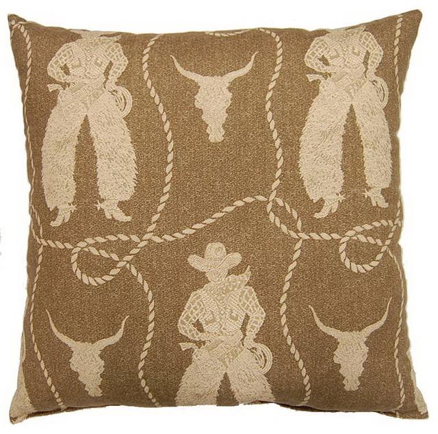 buckaroo rawhide 26 inch floor pillow contemporary