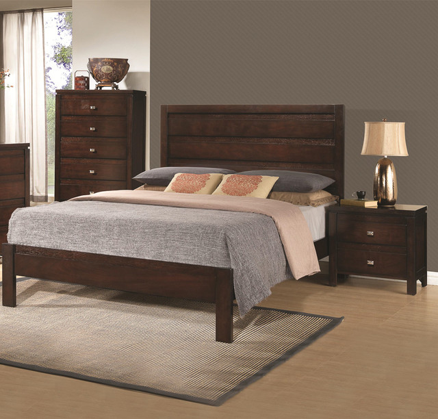 Contemporary solid wood bedroom furniture