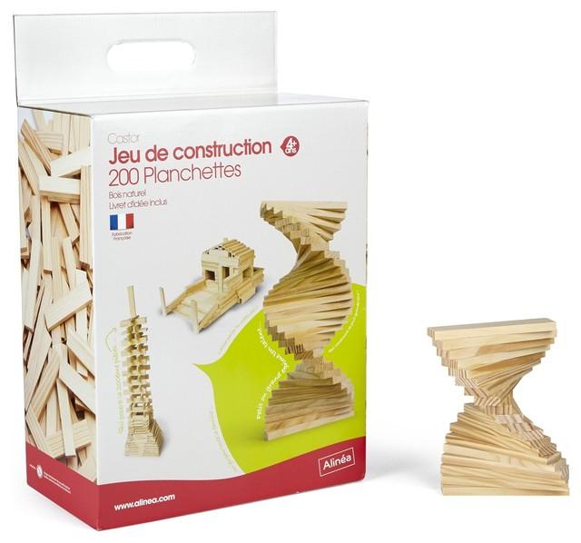 photos  Castor Jeu de construction planchettes en bois fabrique France contemporary kids toys and games