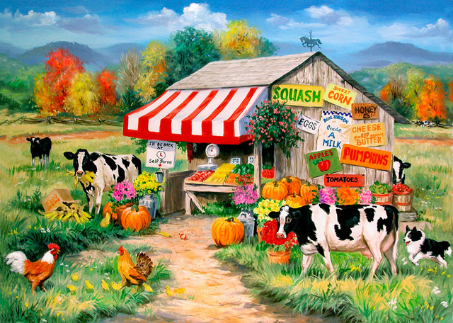 Self serve wall mural country wallpaper for Country wall mural