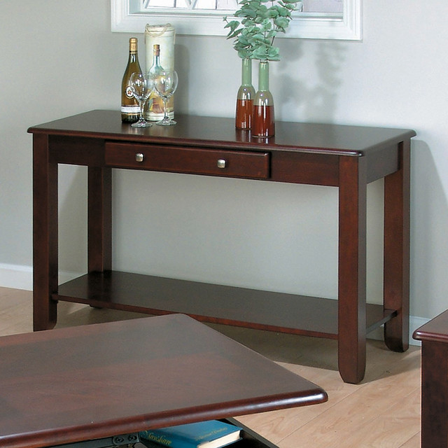 Jofran 280 4 vintner merlot sofa table contemporary for Jofran sofa table