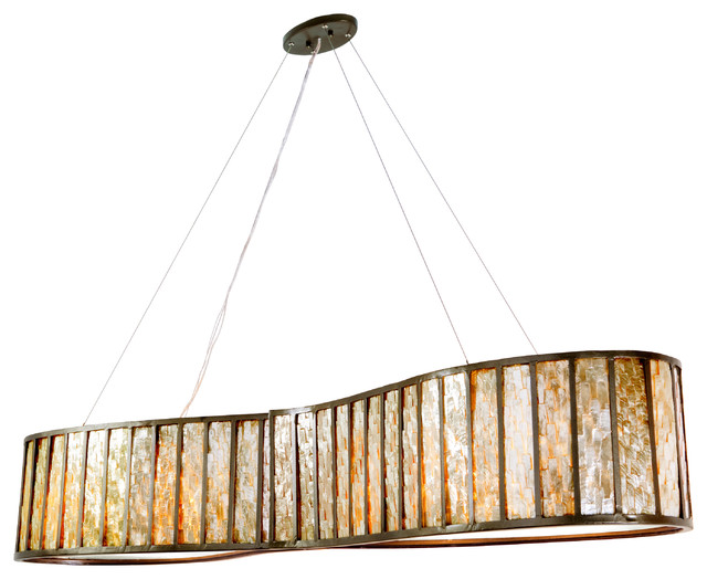 Affinity 6 Light Linear Pendant New Bronze Medium