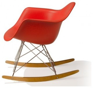 Molded Plastic Armchair with Rocker Base - Modern - Rocking Chairs ...